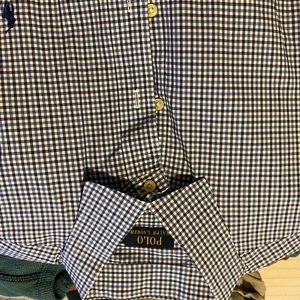 Polo by Ralph Lauren LS blue check button down